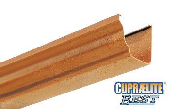 Gouttière BEST plastique métallisée aspect cuivre CUPRAELITE