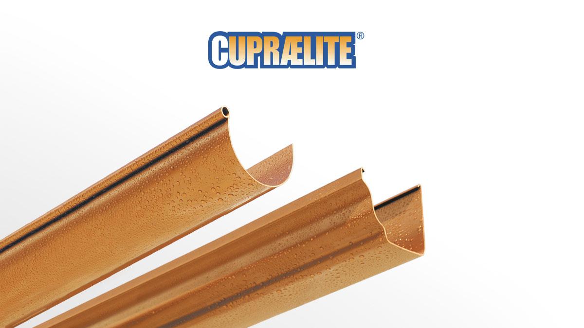 Gouttière plastique métallisée aspect cuivre