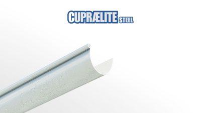 Gouttière plastique métallisée aspect zinc