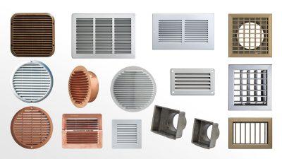Grilles de ventilation métalliques