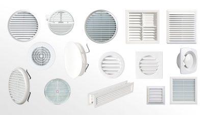 Grilles de ventilation plastiques