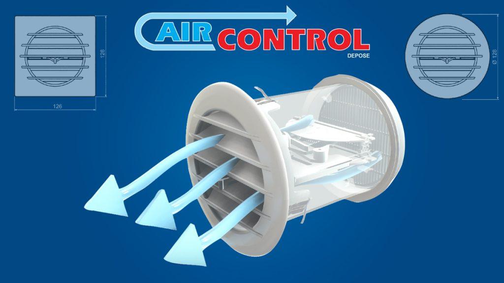 Grille de ventilation thermostatique AIRCONTROL